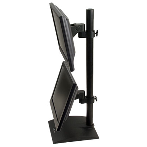 Innovative's 9109-D - Dual flat panel stand with pivot and tilt