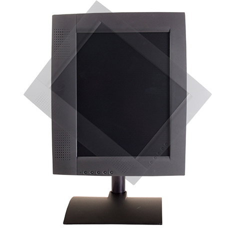 9109-S - Flat panel stand with pivot and tilt