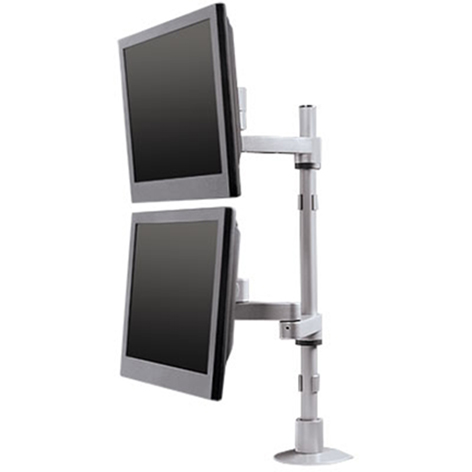 9112-D-FM - Articulating dual LCD mount