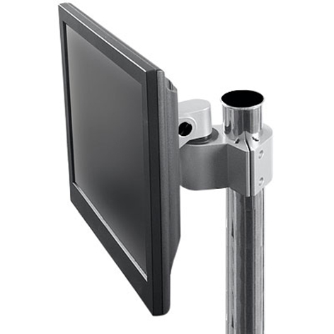 Innovative Office Products' 9170 - Pole clamp for LCD monitors with pivot and tilt.