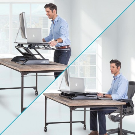 poll sitting taking desks desk respondents related stand worker safety ergotron comp with video dual on a workfitsmall standing